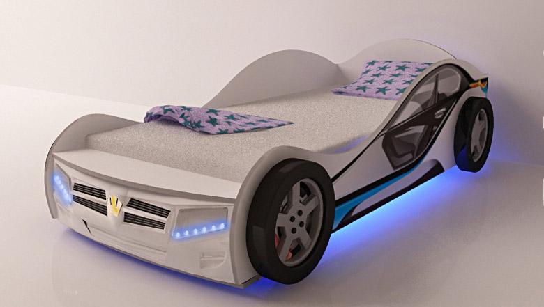مدلهای خاص تخت اتاق کودک; ماشین و کشتی
