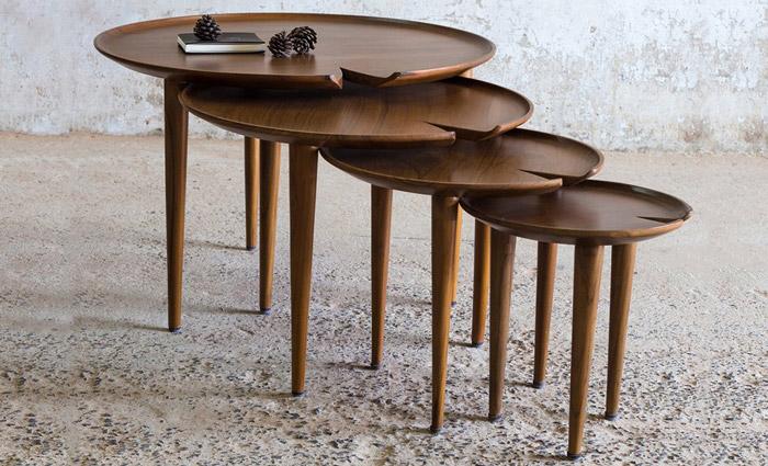 میز عسلی 4تیکه مدل کارینو
