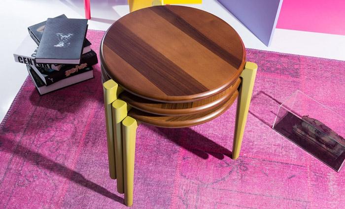 میز عسلی سه تیکه مدل پورشه
