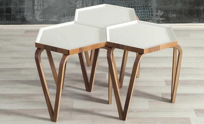 میز عسلی سه تیکه مدل سناتور
