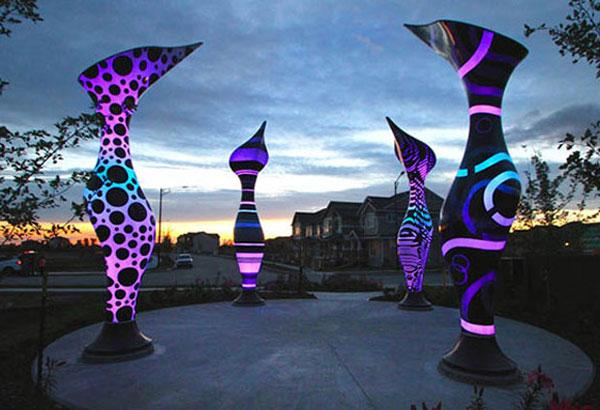 ایده طراحی پارک و فضای سبز با مجسمه های زیبا
