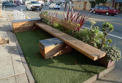 نقش پارکلت ها در طراحی مبلمان شهری مدرن
