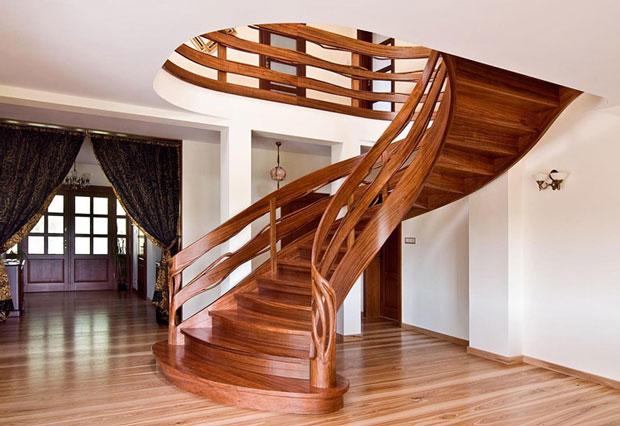 45 مدل از بهترین پله های گرد چوبی