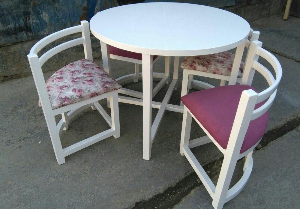 میز و صندلی ناهارخوری کمجا 4نفره