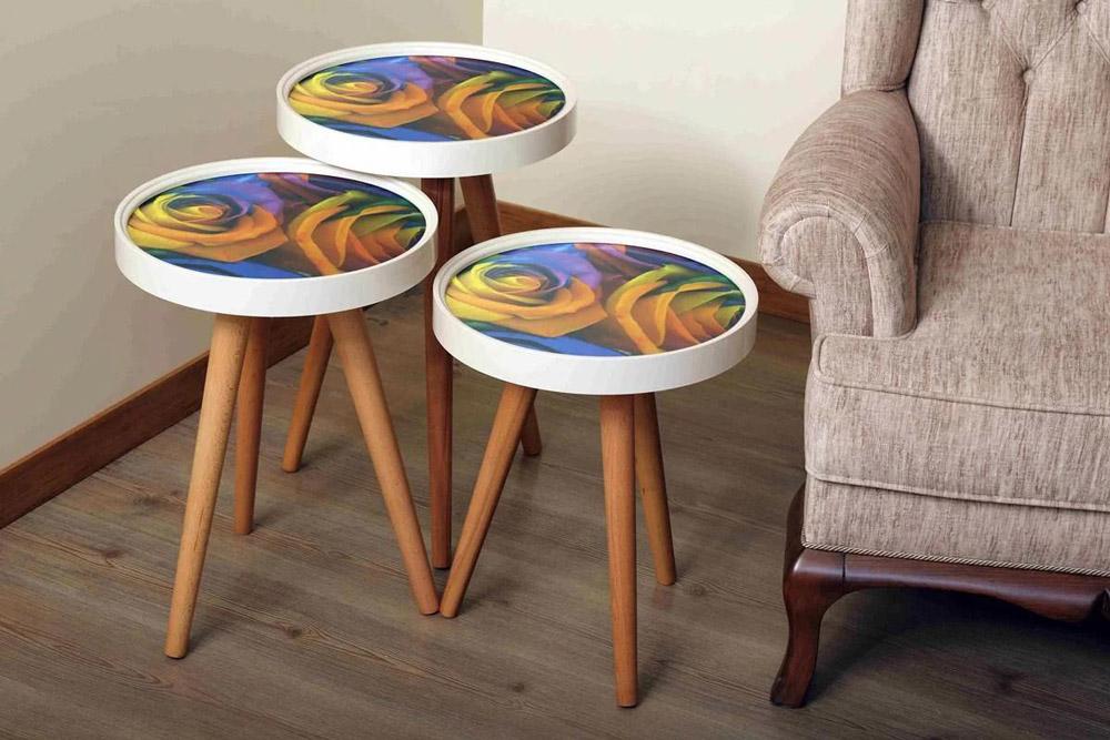 میز عسلی سه تیکه مدل پارمیس