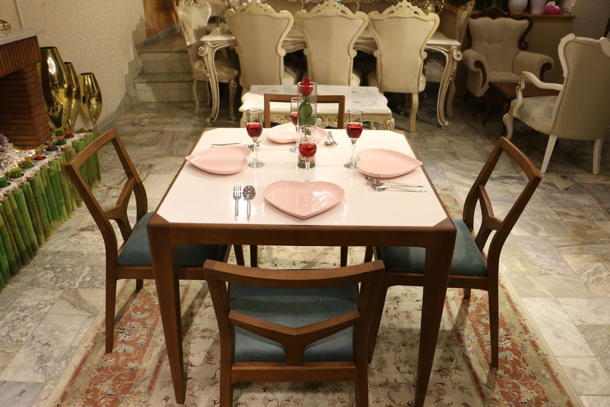 میز و صندلی ناهارخوری مدل سایا
