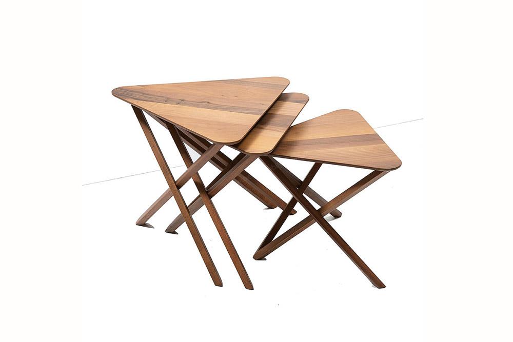 میز عسلی 3 تیکه مدل پارسا