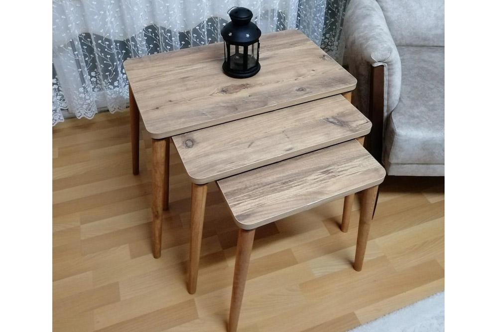 میز عسلی سه تیکه مدل داووس