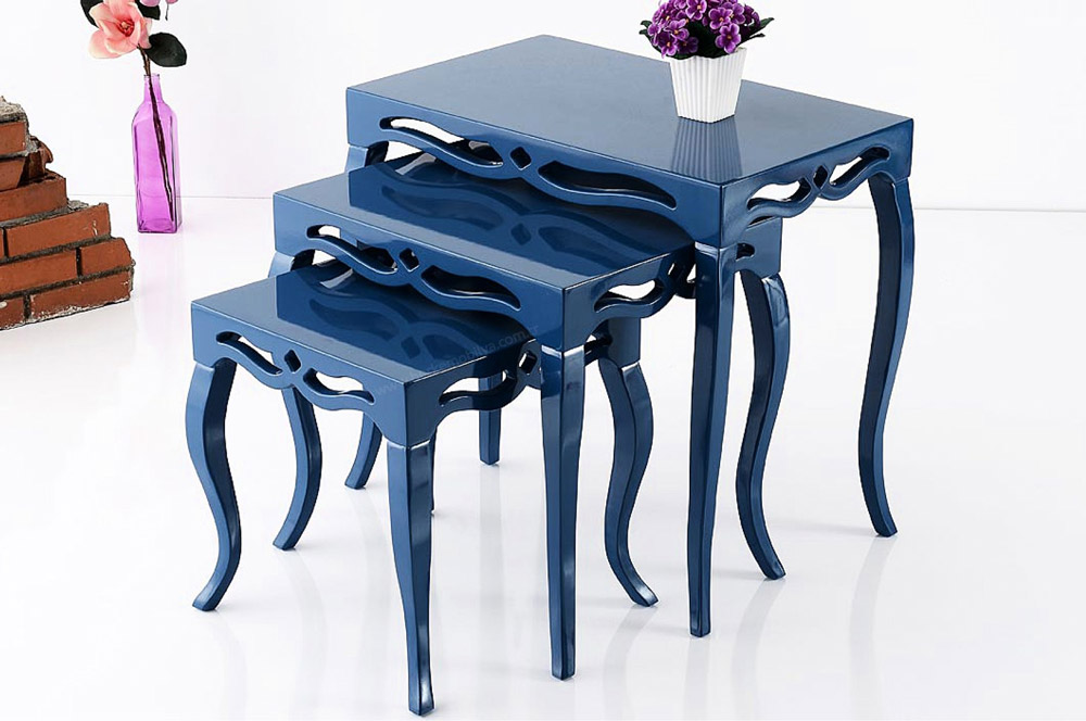 میز عسلی 3 تیکه مدل یونیک